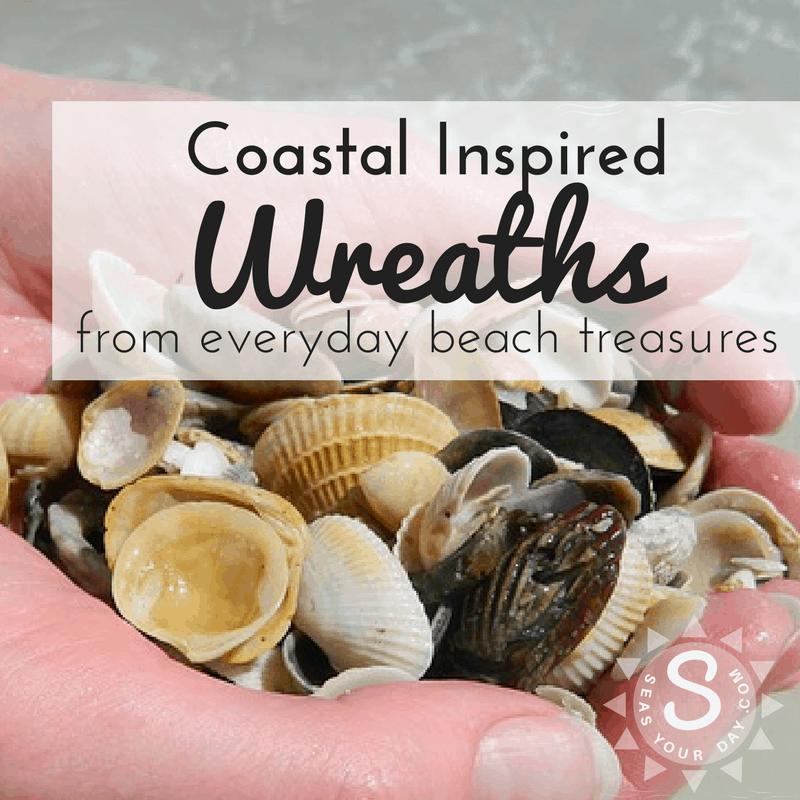 Sea Shell Wreath  Shabby Chic   Beach Decor  Sea Shore Decor  Beach Home Decor  White Sea Shells  Beach Wedding Wreath