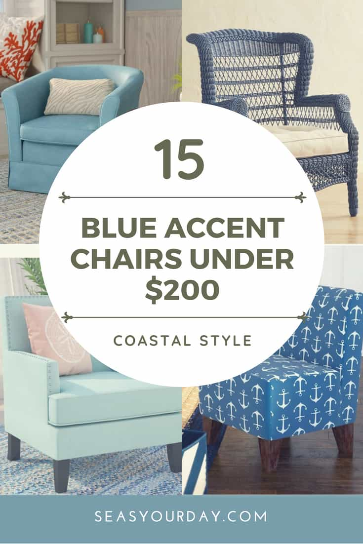 Blue Accent Chairs Under $200 | Https://www.seasyourday.com/