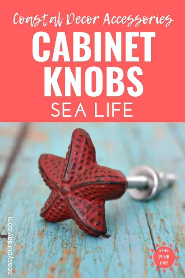 Quick Easy Makeover For Cabinets And Furniture With Coastal Sea Life Inspired Cabinet S Drawer