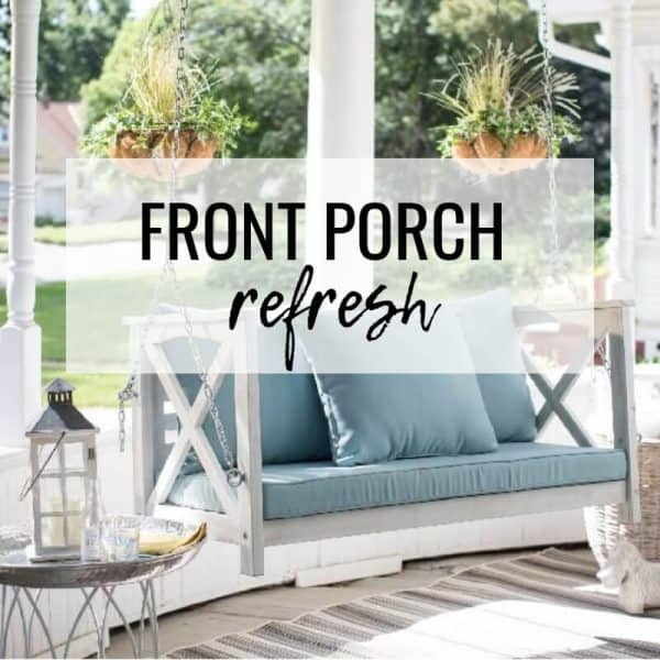 Welcome Spring Coastal Front Porch Refresh Seas Your Day
