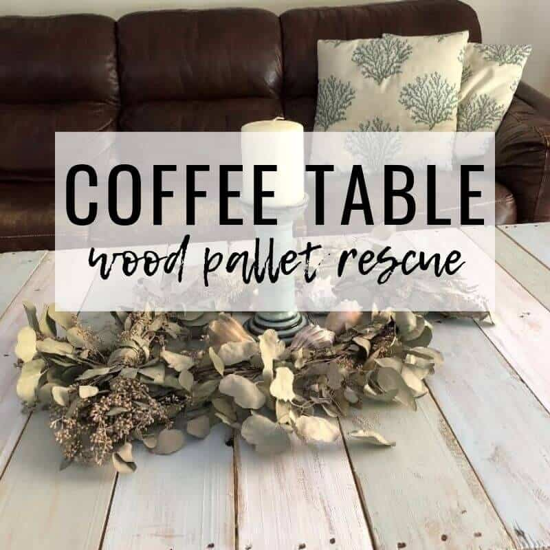 DIY BEACH COTTAGE COFFEE TABLE FROM WOOD PALLET - Seas Your Day