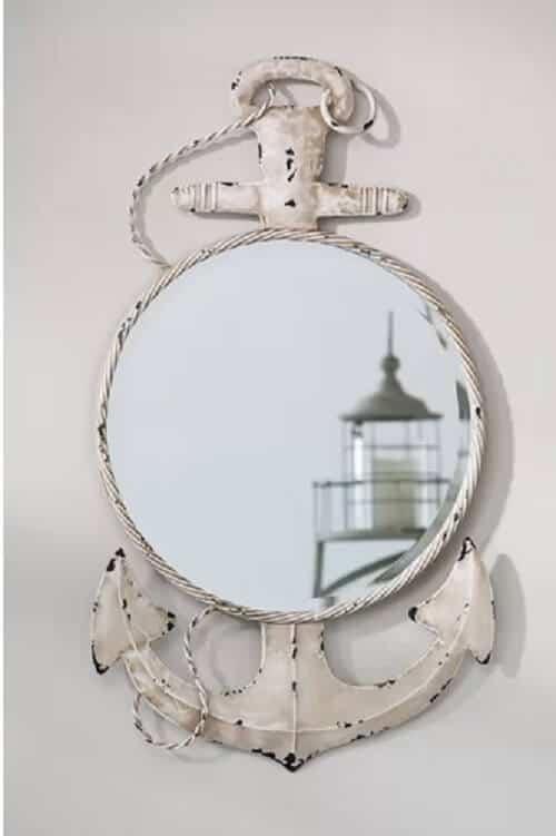 Nautical Bathroom Decor Featuring Anchor Motifs